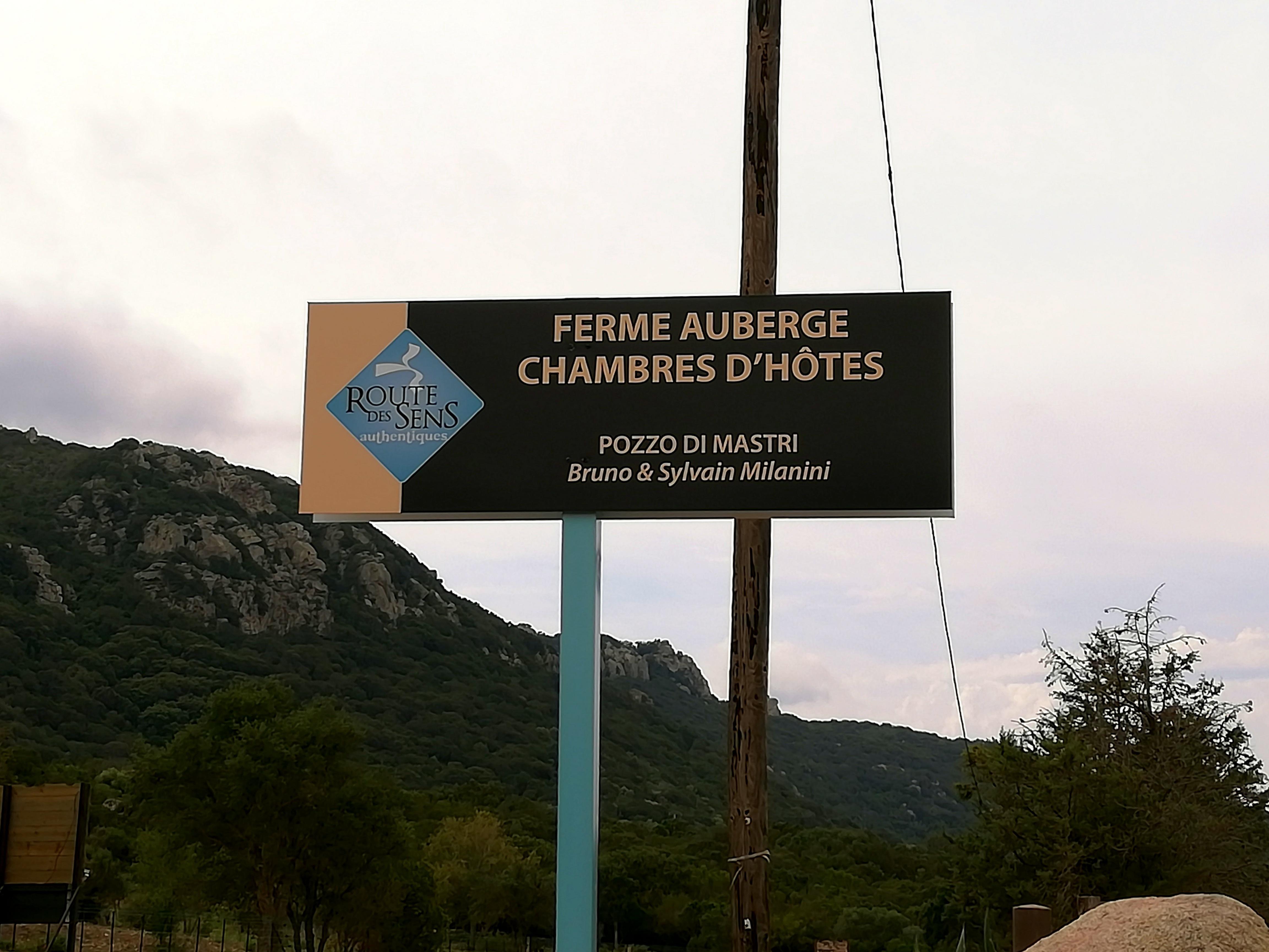 Ferme auberge Route des sens Corse