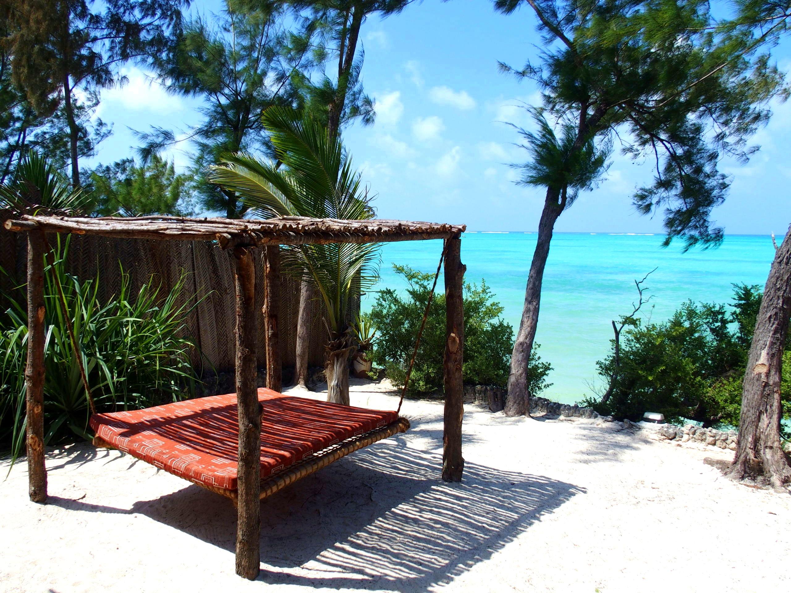Le hamac de ma chambre hotel Seasons lodge Pongwe Zanzibar