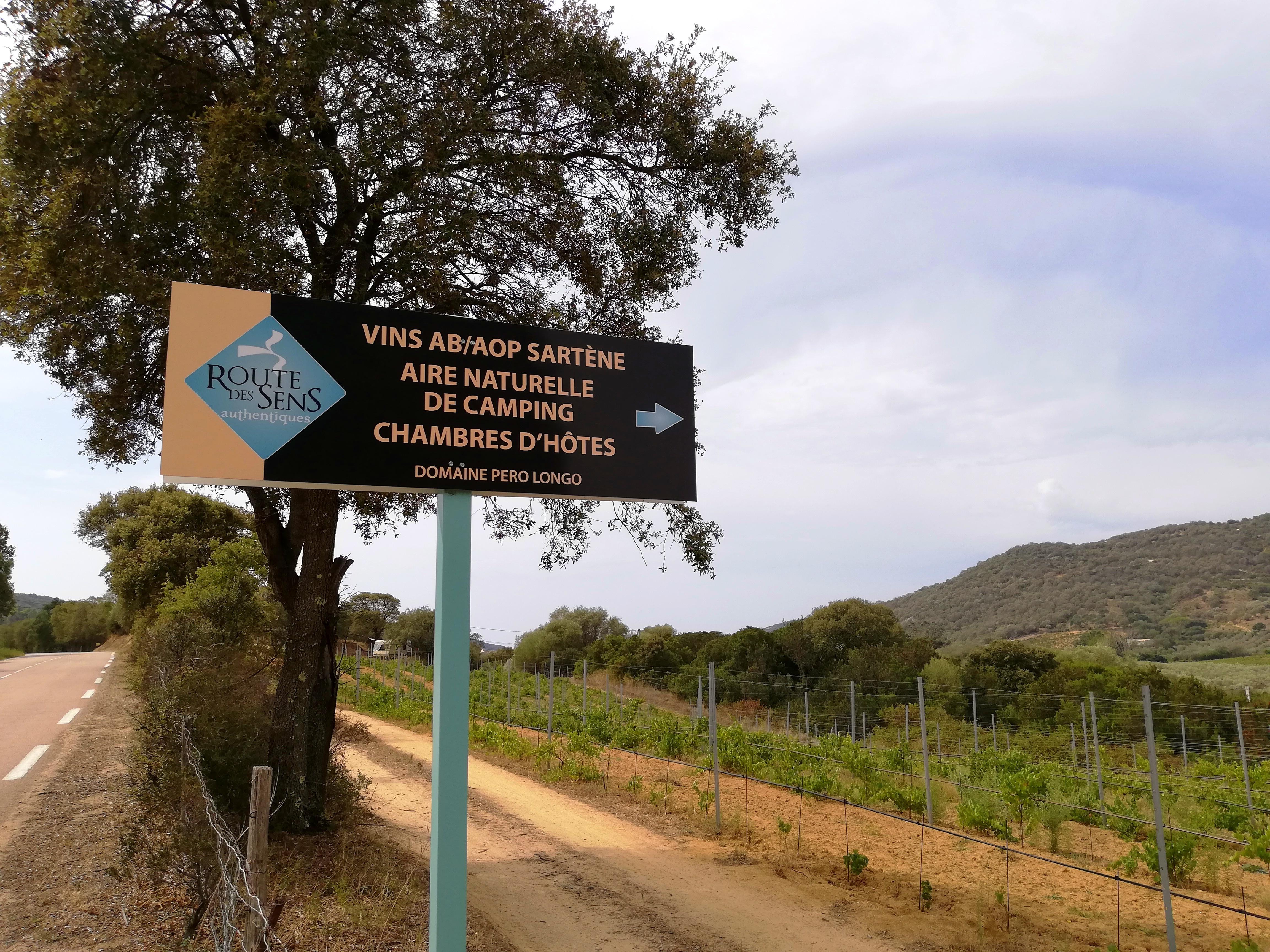 Vin, camping et chambres d'hôtes sur la Route des Sens Corse