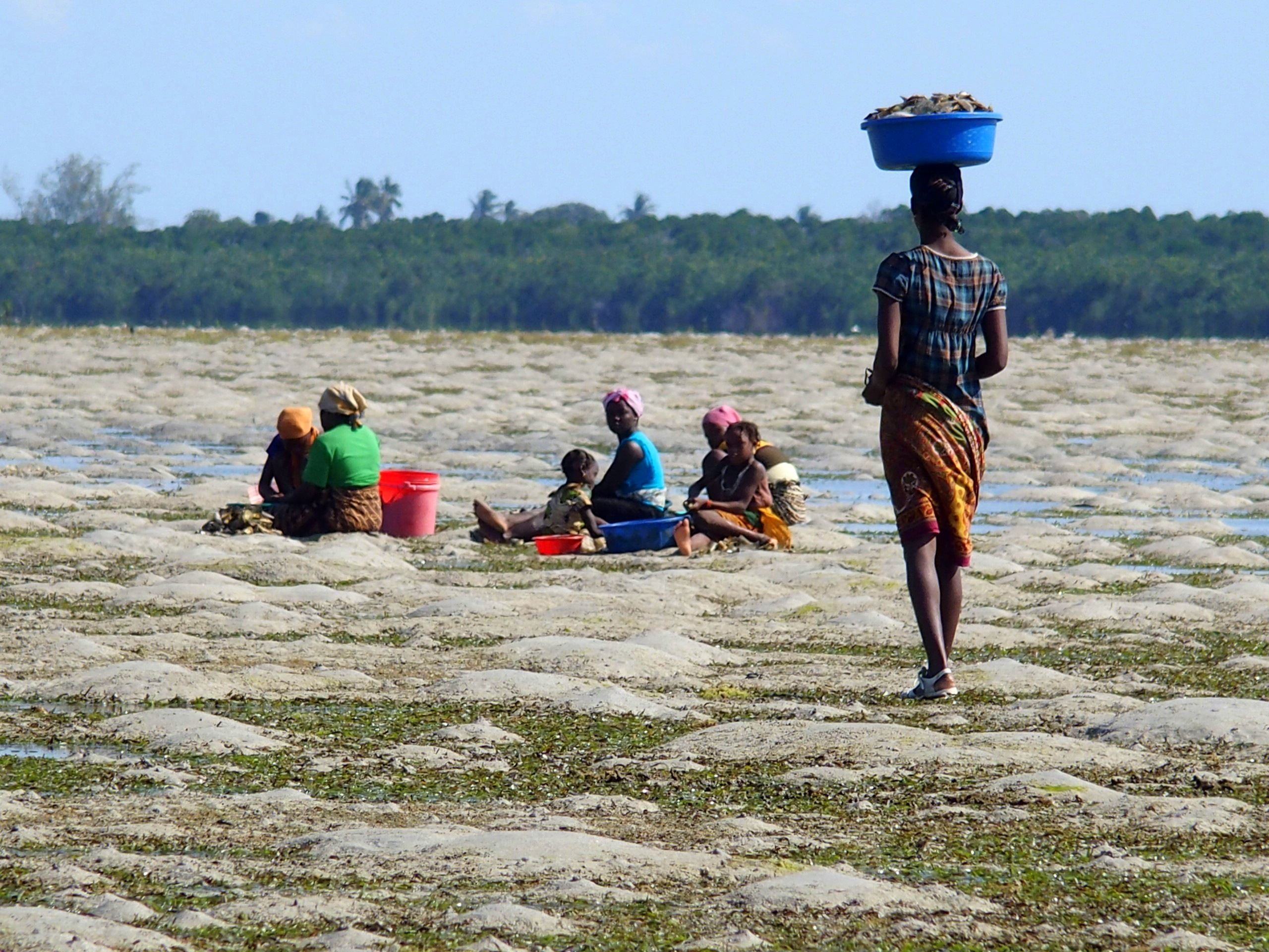 Famille de pêcheurs Mozambique.
