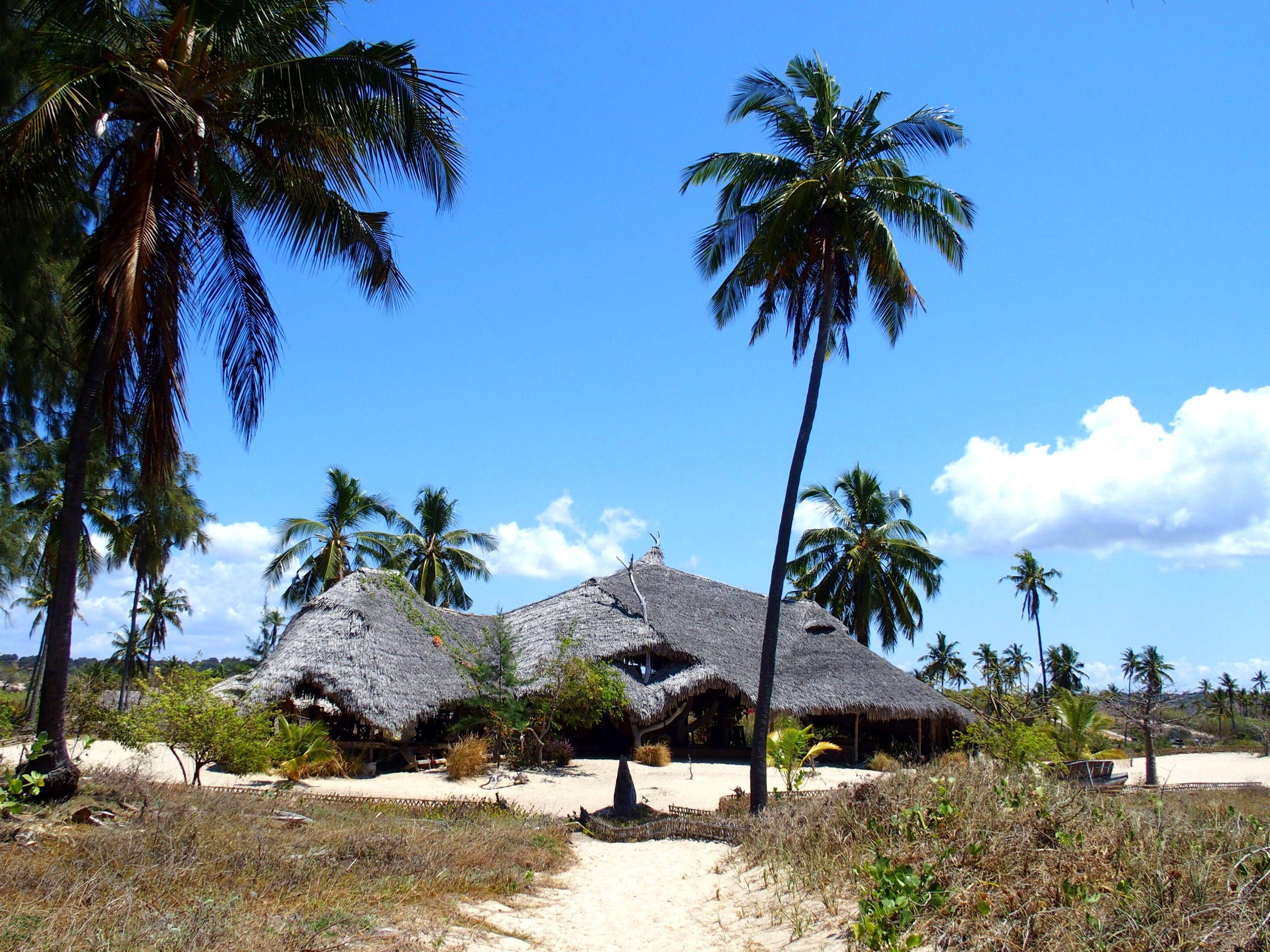 Ulala lodge construit en matériaux locaux Mozambique