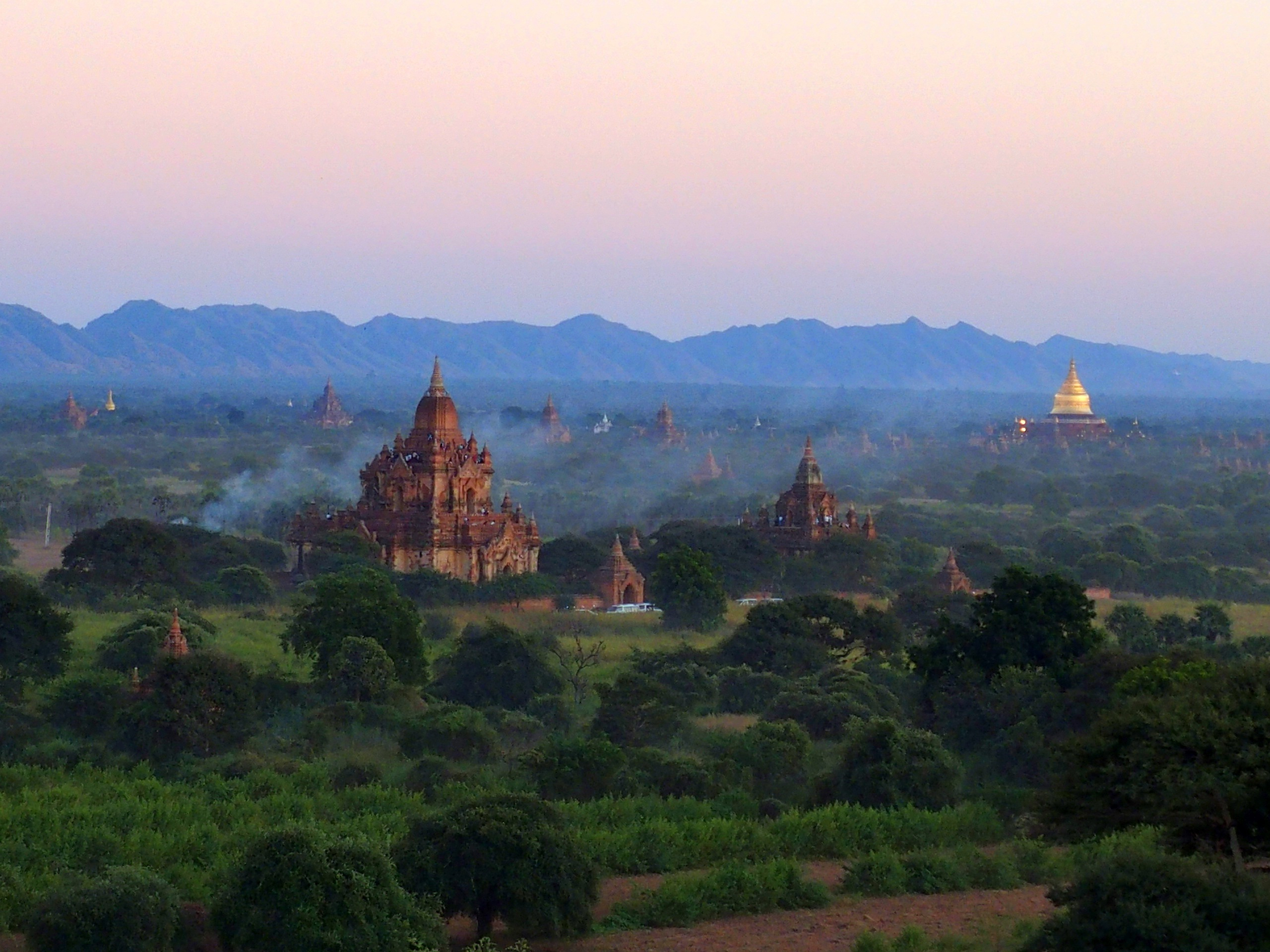 Photo souvenir de Bagan Birmanie