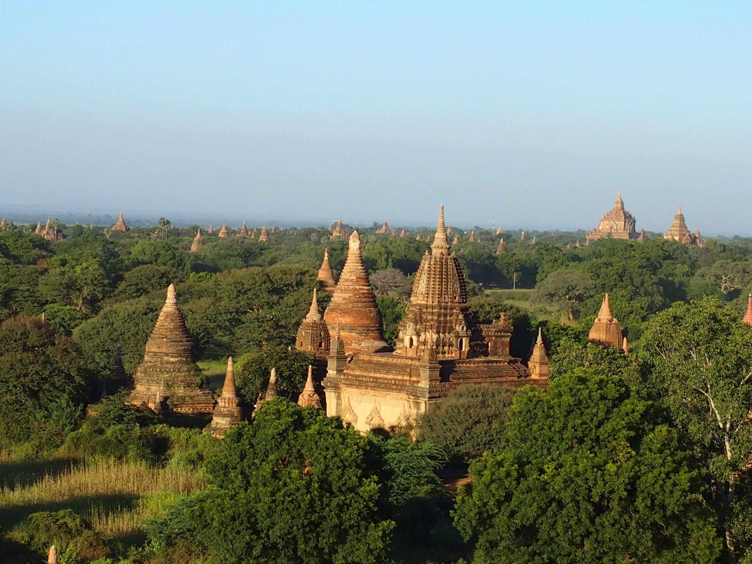 Pagodes-dans-les-bois-de-Bagan-Myanmar