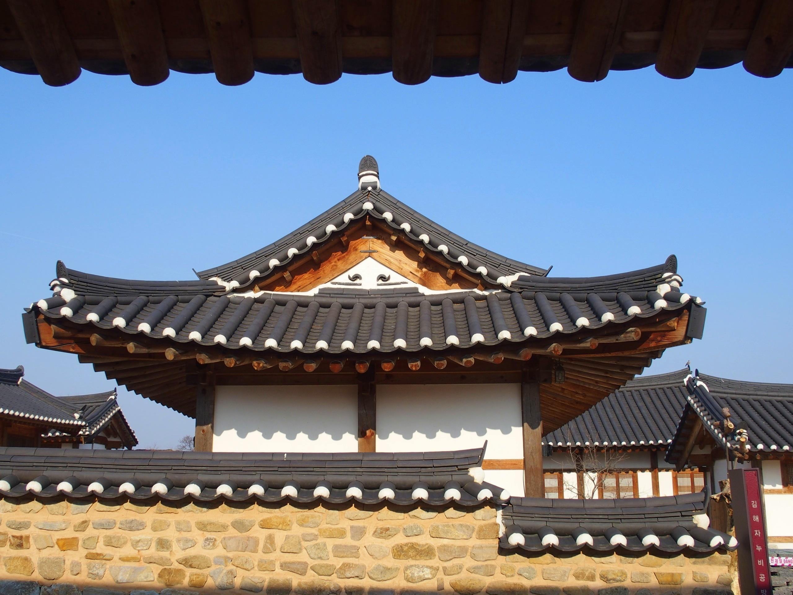 Architecture toit hanok Gyeongju