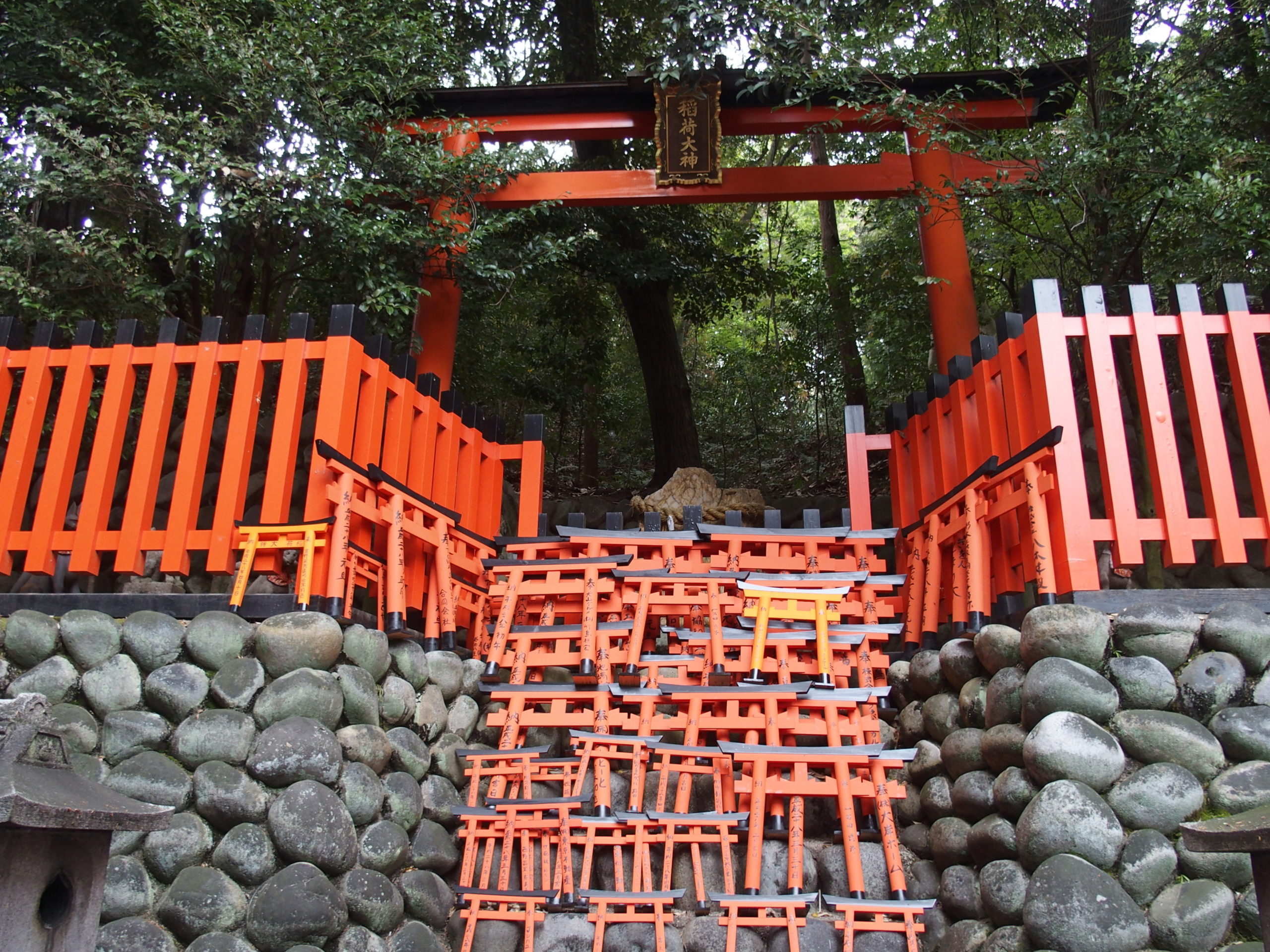Ensemble de torii du sanctuaire Fushimi Inari-taisha Kyoto