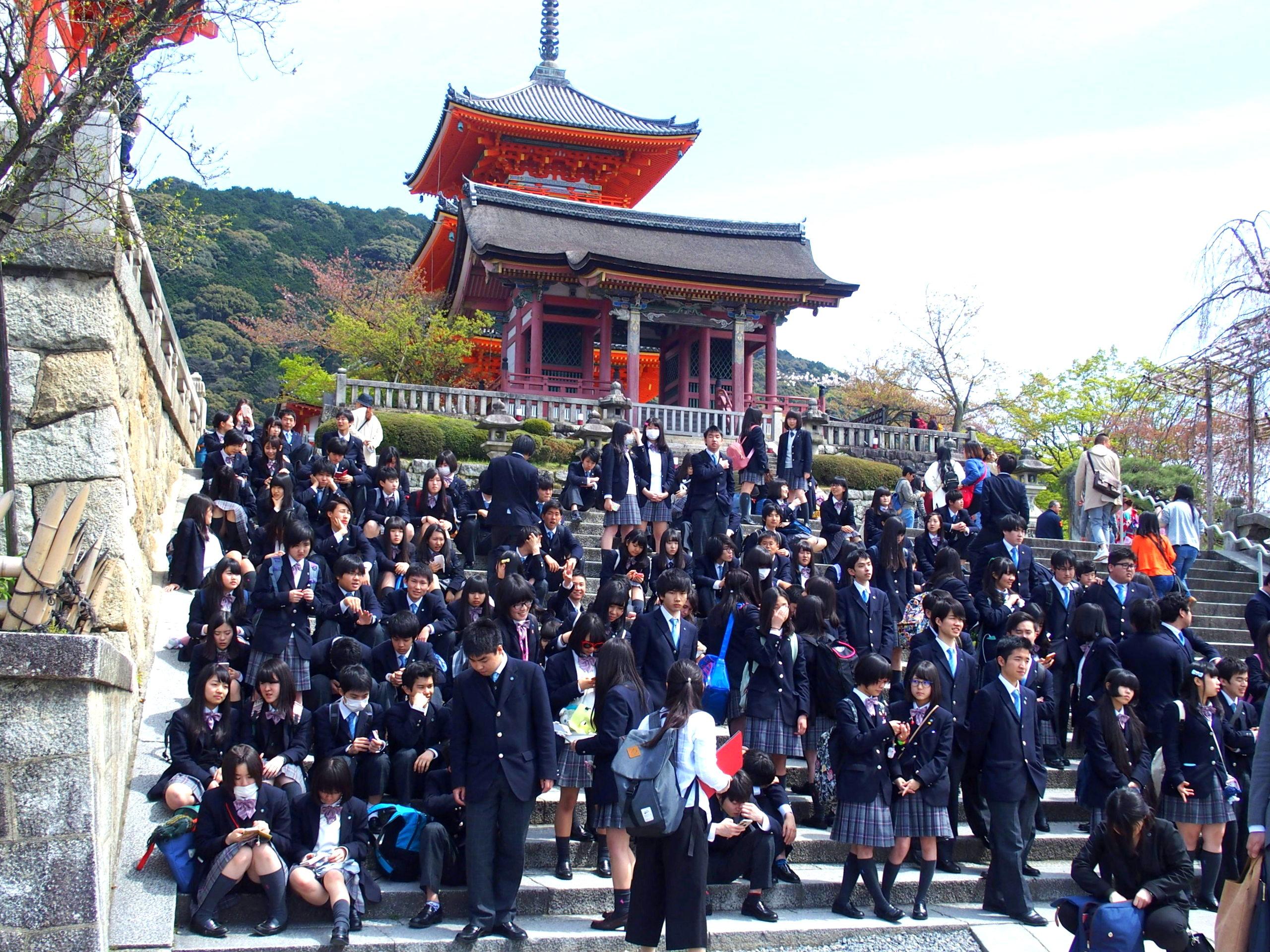 Groupe de scolaires temple Kiyomizu-Dera Kyoto