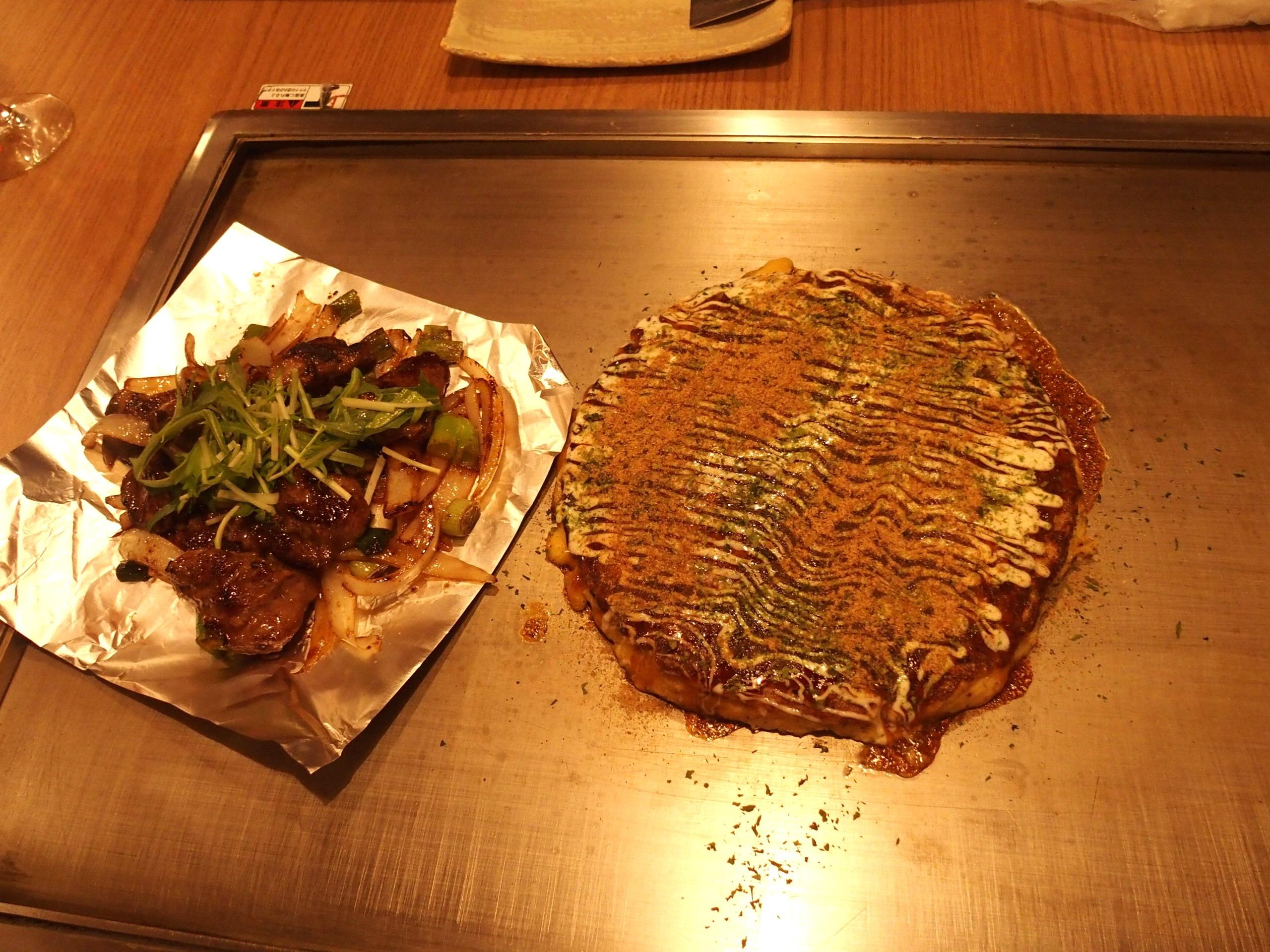 Okonomiyaki marché Kyoto