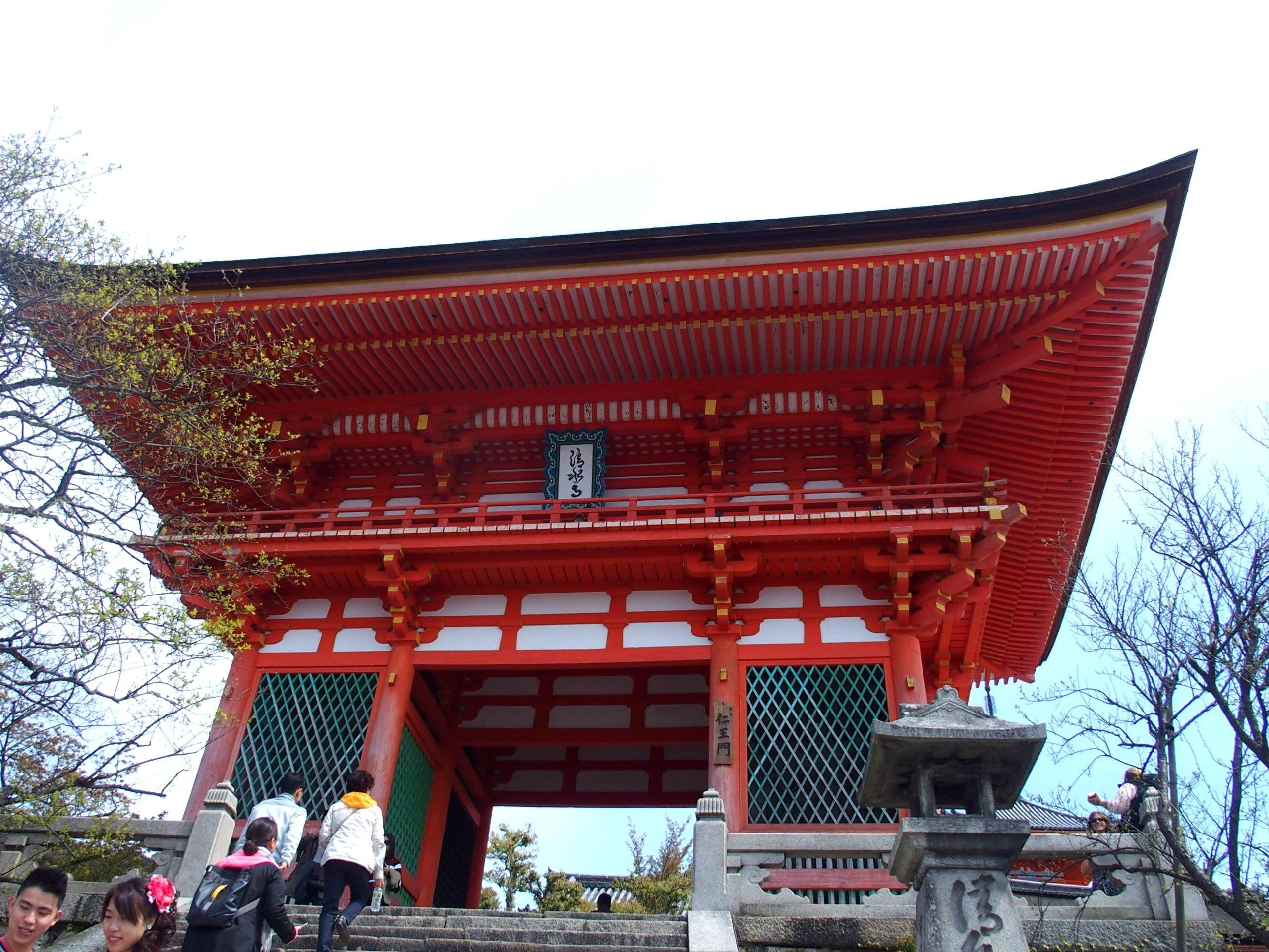 Porte d'entrée temple Kiyomizu-Dera Kyoto