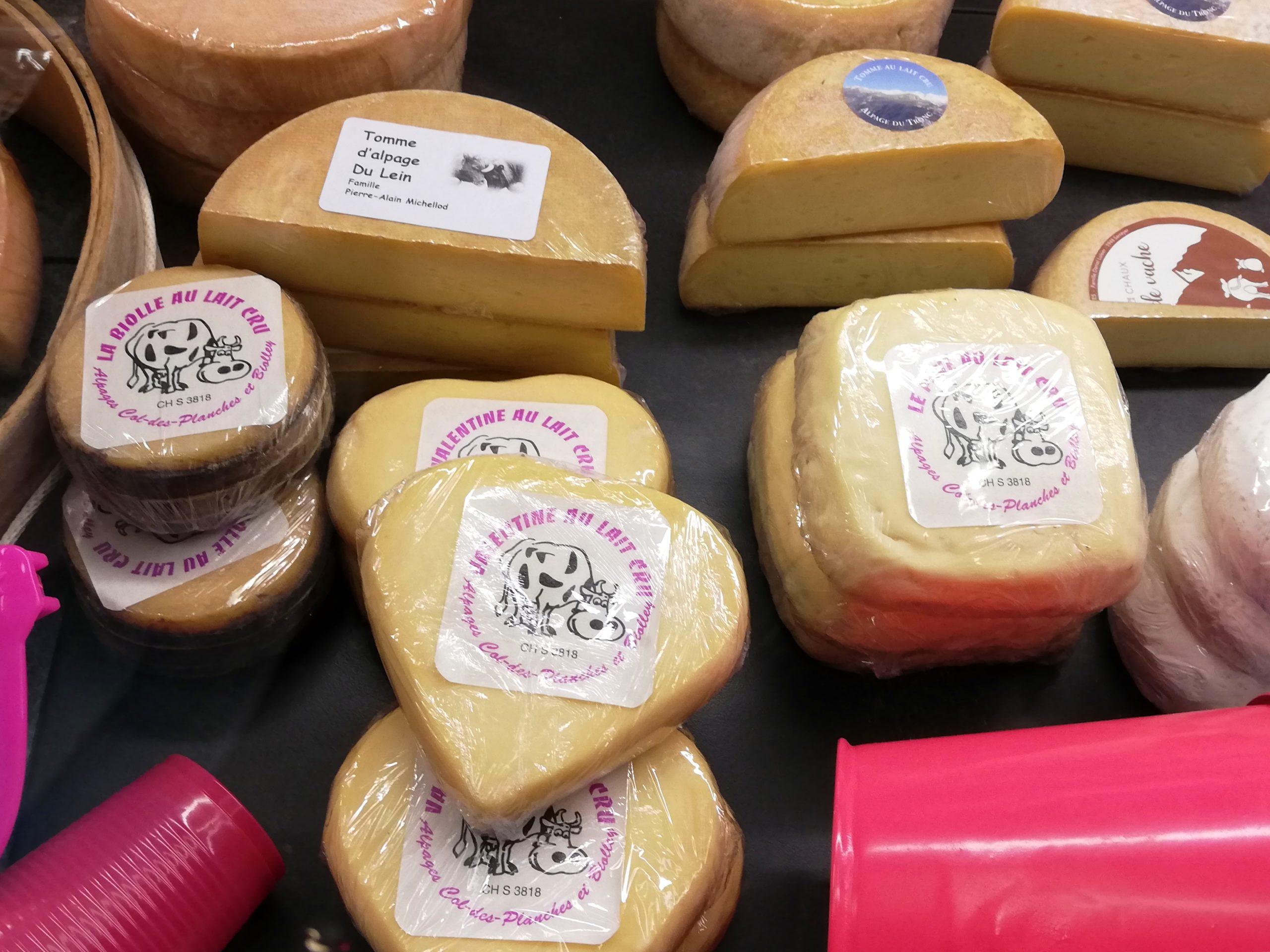 Fromages boutique fromagerie d'Etiez Vollèges Suisse