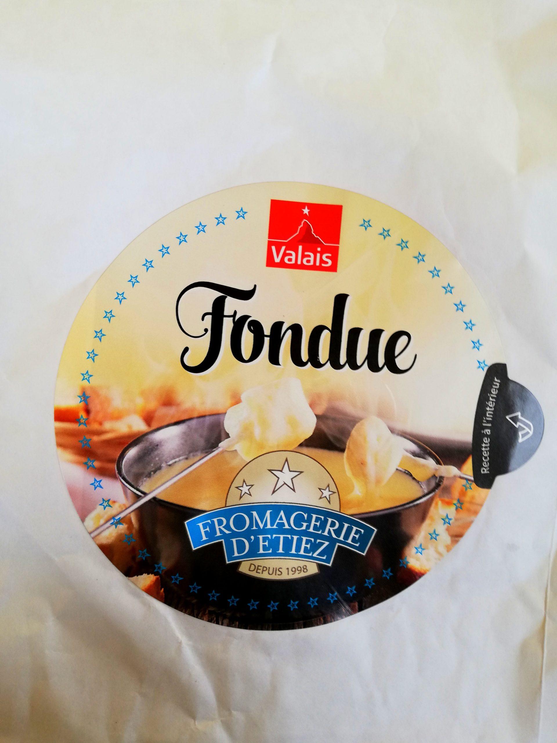 Mélange à fondue fromagerie Etiez Valais Suisse