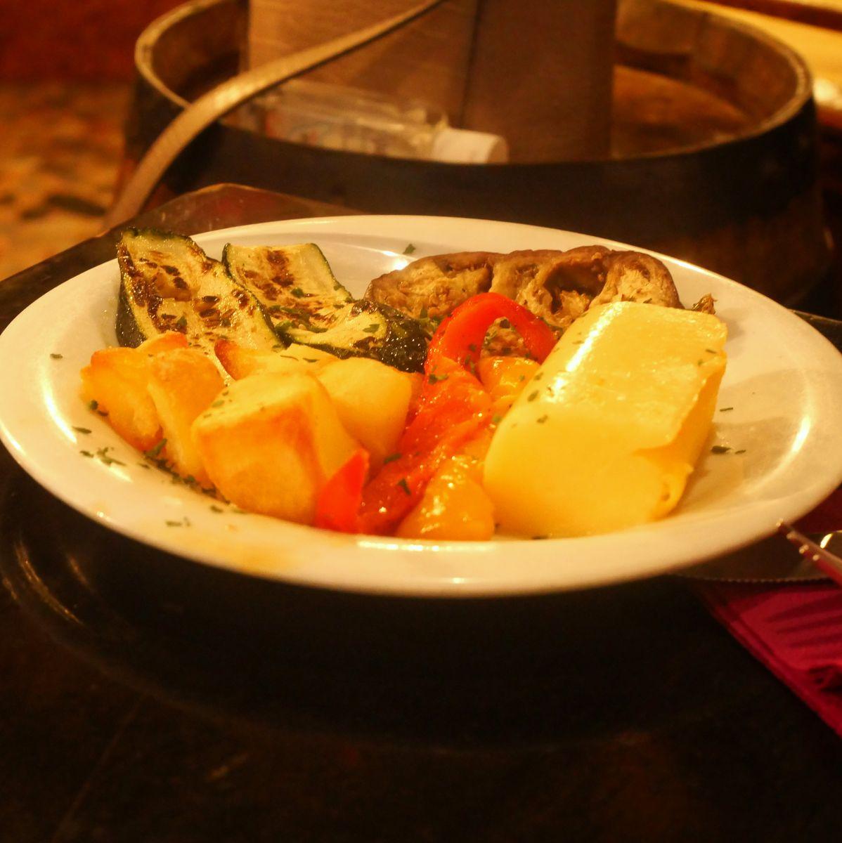 Assiette de légumes confits bacaro Venise