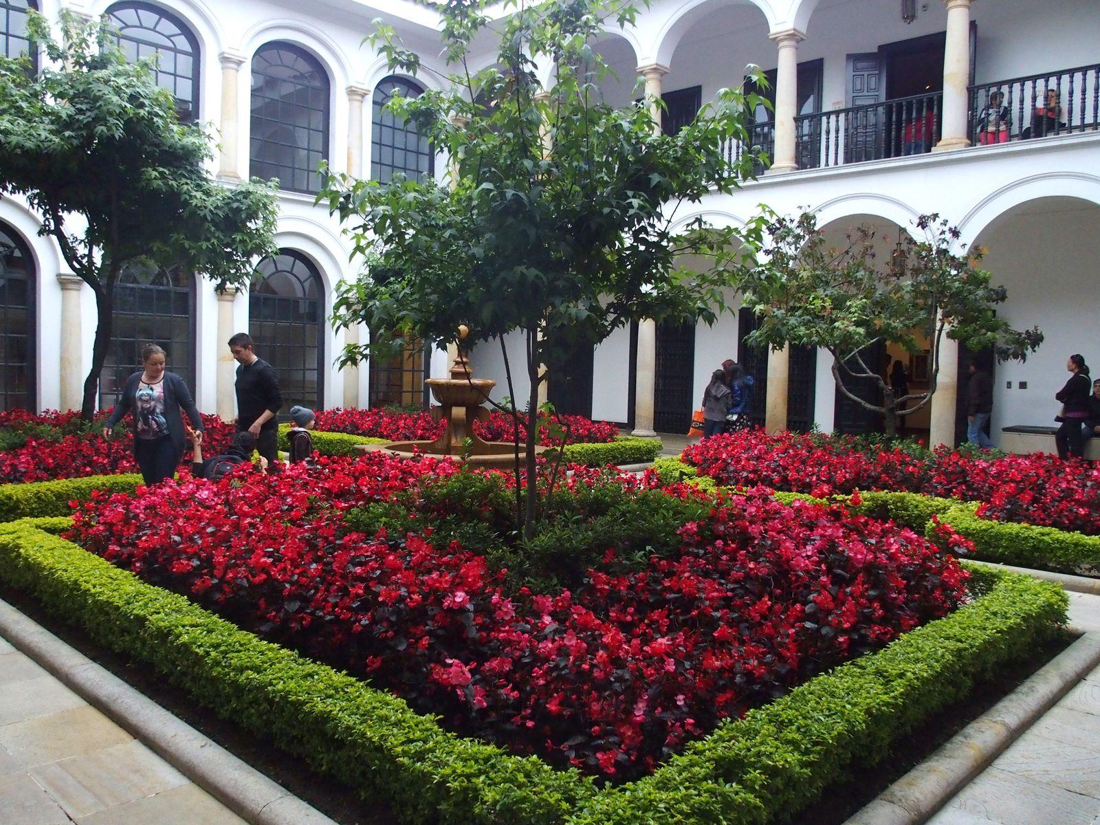 Patio du Musée Botero Bogota.