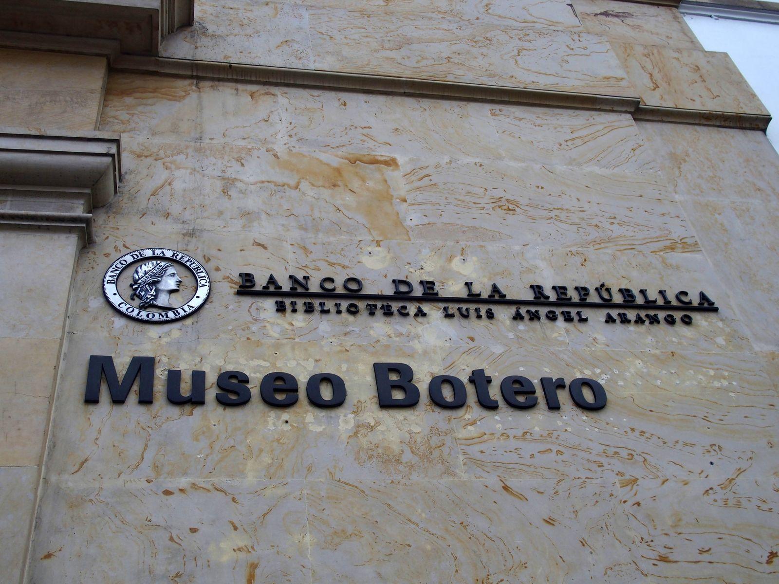 Signalétique Museo Botero Bogota