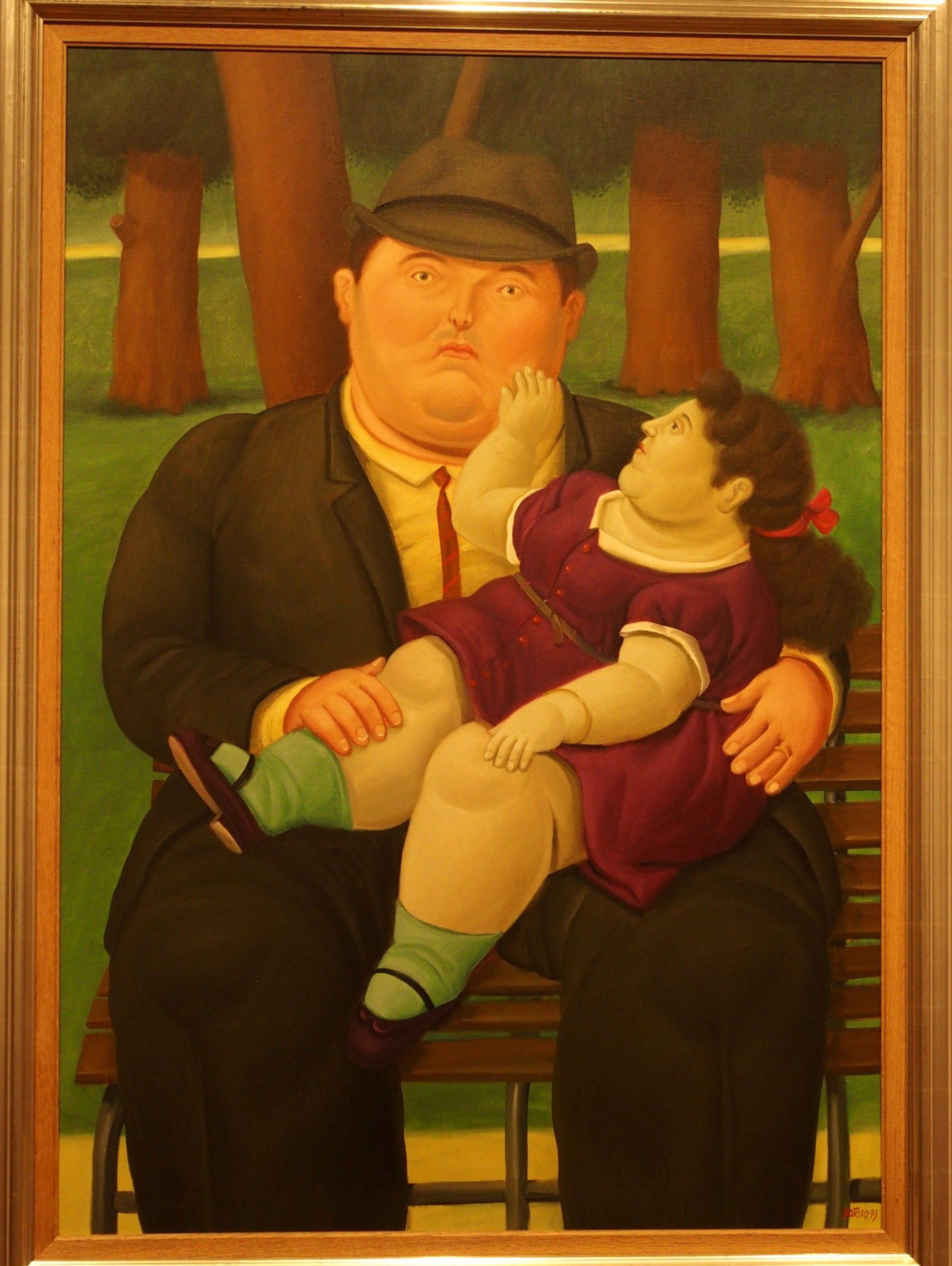 Musée Botero Bogota Fillette sur les genoux