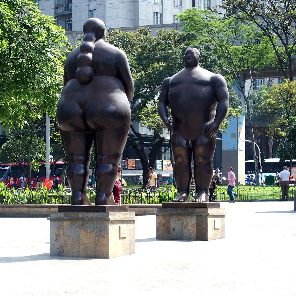 Sculptures de Botero Adam et Eve Medellin Colombie