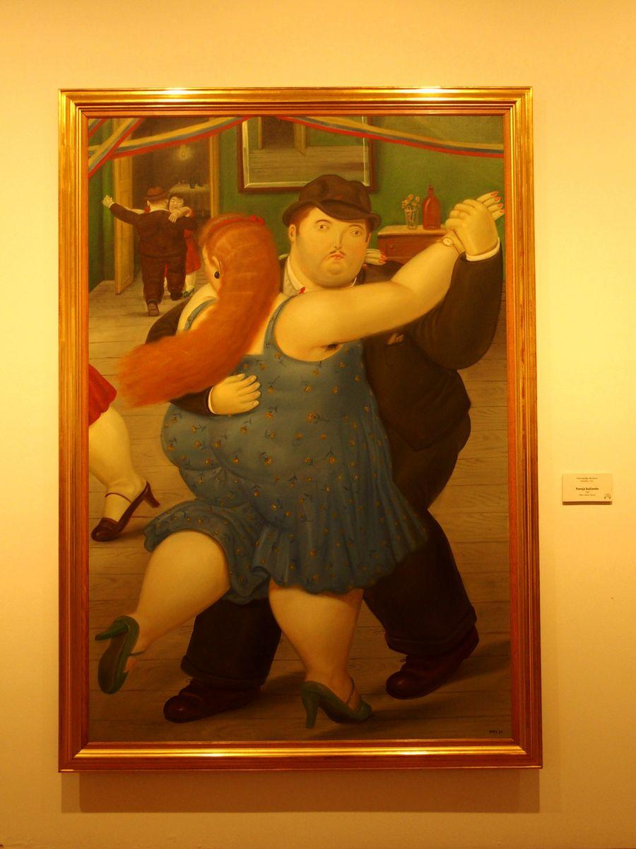 Visiter musée Botero Bogota Colombie - danseurs de tango