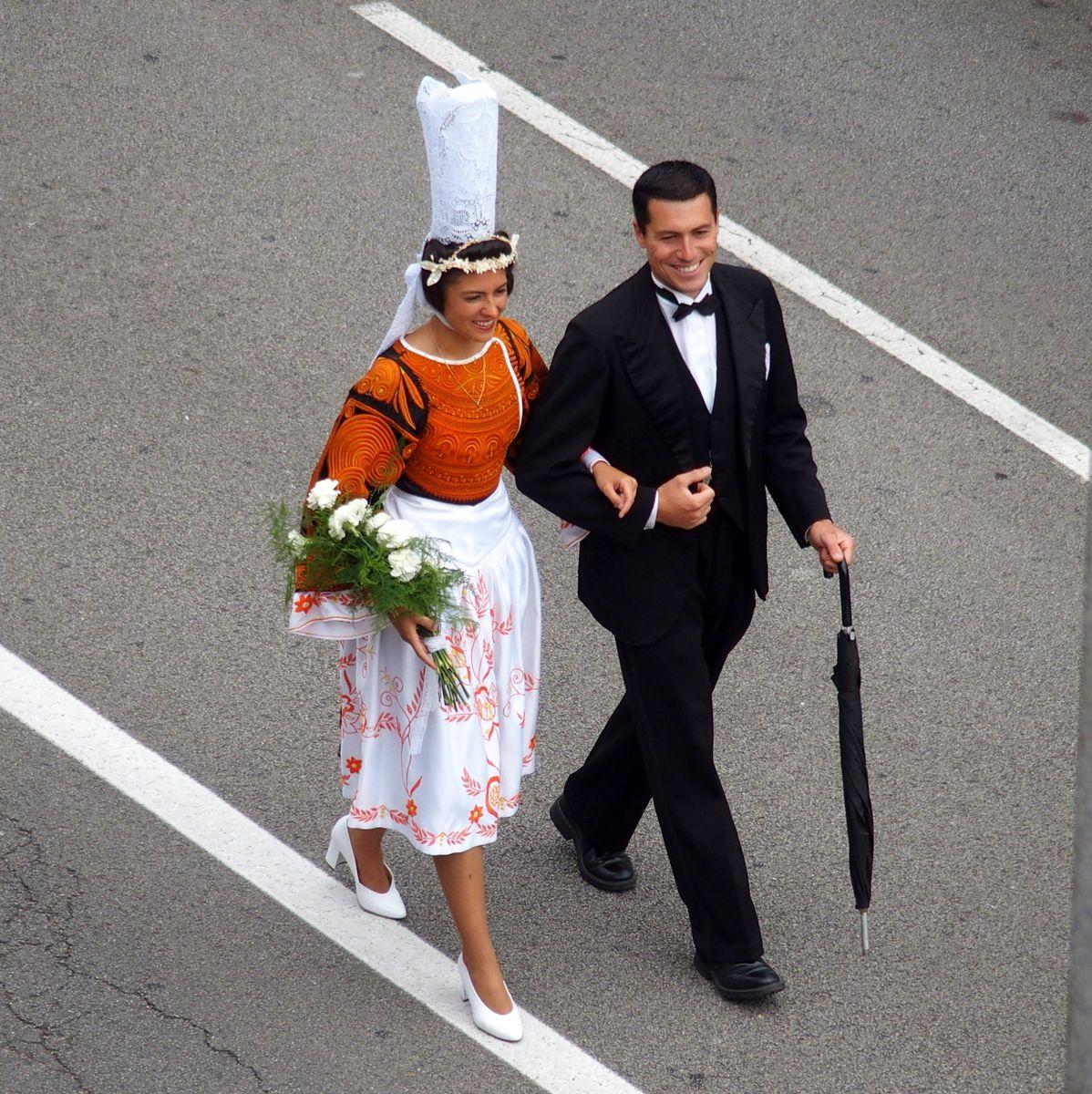 Couple de bigoudens Festival de Cornouaille Quimper