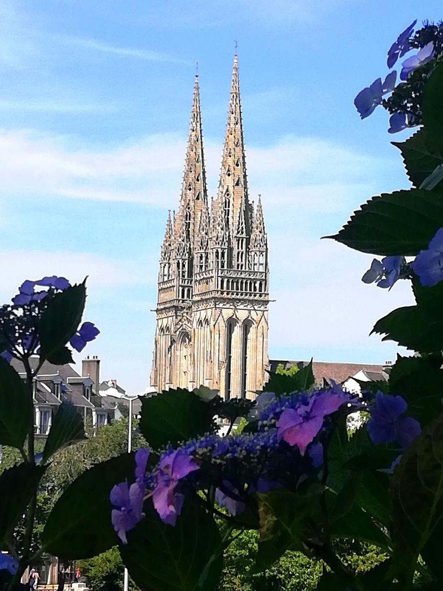 Flèches de la cathédrale de Quimper