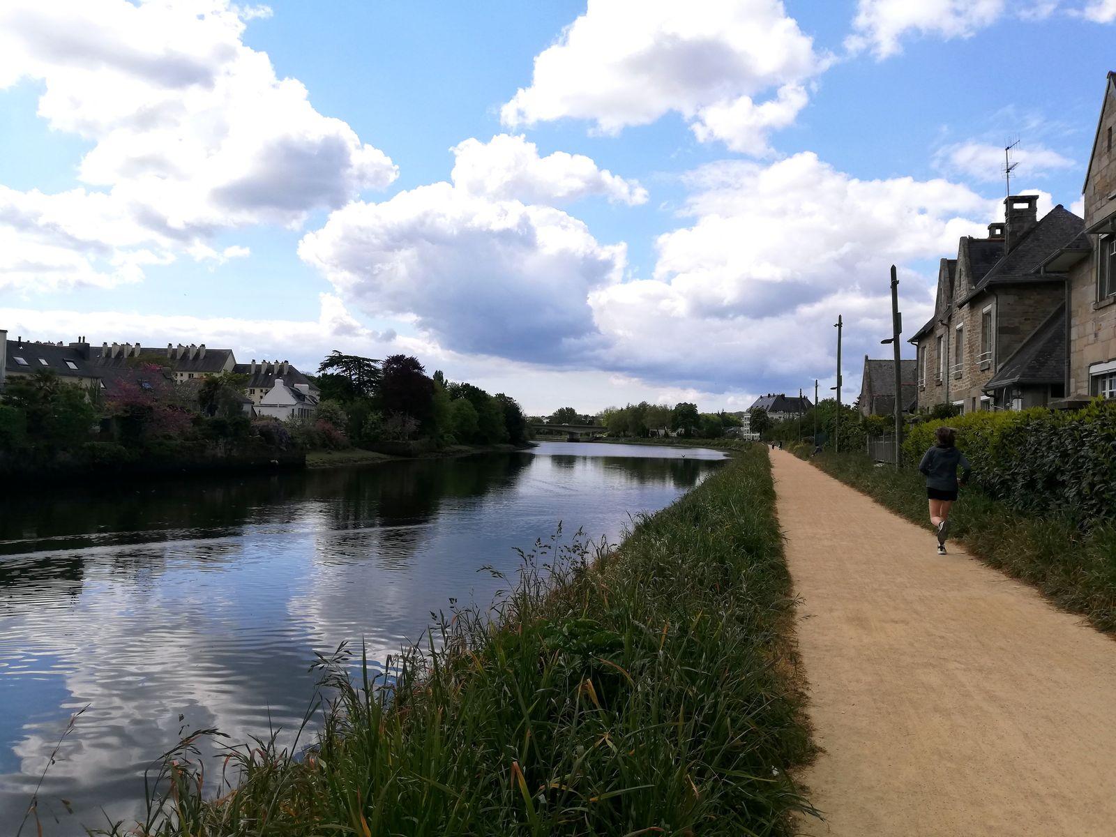 Jogging sur le chemin du halage Quimper