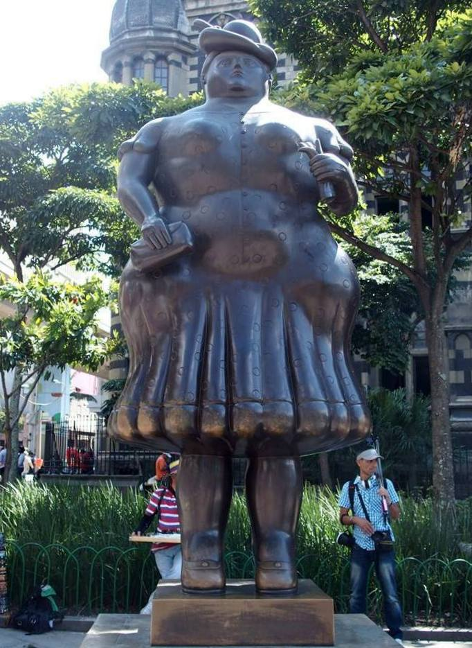 La Dame de Botero Medellin Colombie