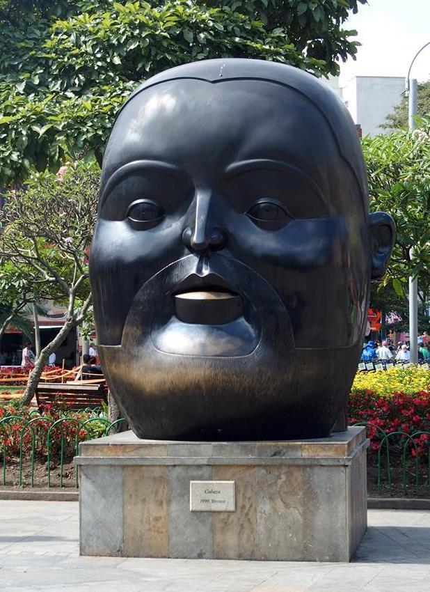 La tête de Botero Medellin