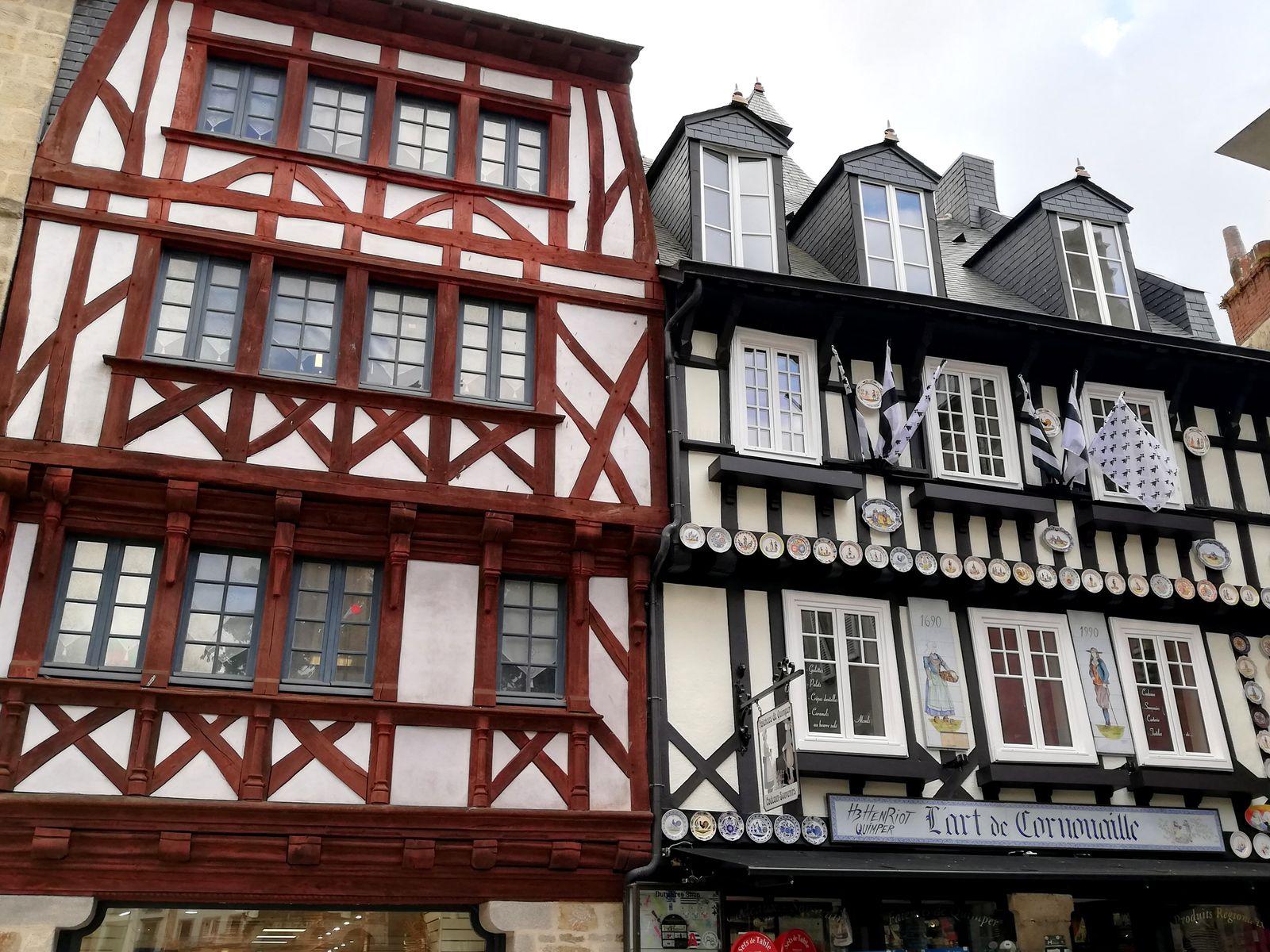 Maisons à colombages de Quimper.
